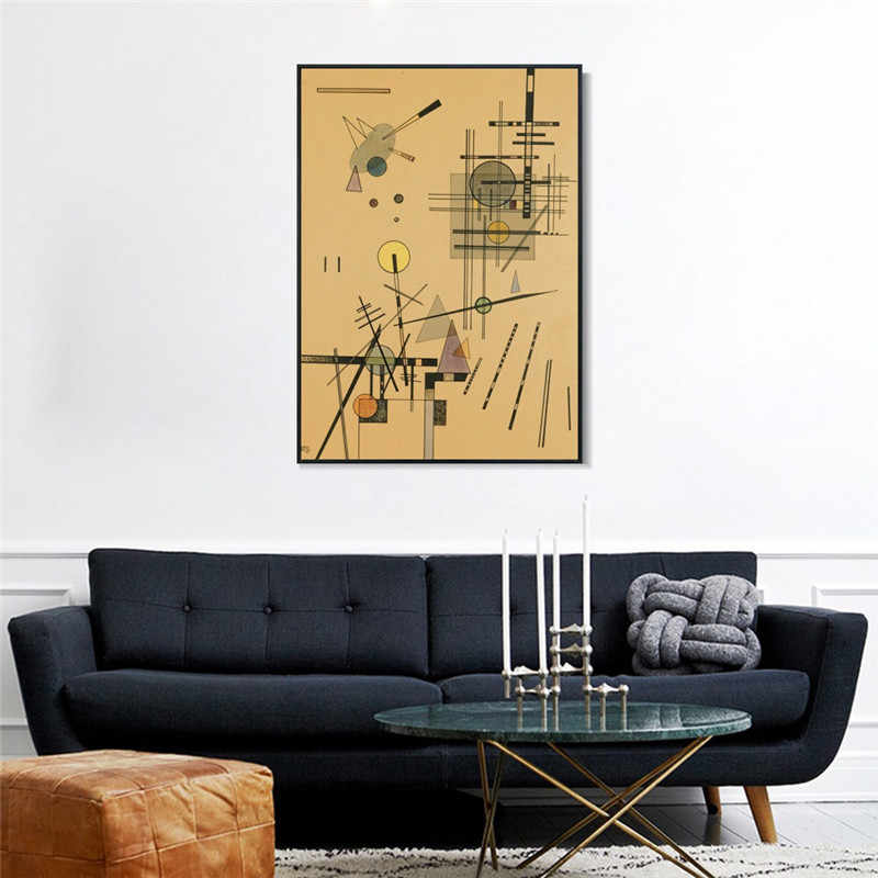 Streicher By Wassily Kandinsky Art Print Painting Poster Wall Pictures For Living Room Home Decorative Bedroom Decor No Frame