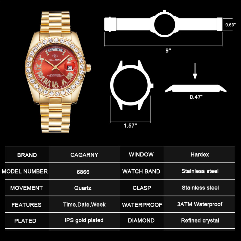 top luxury brand quartz watch for men gold silver stainless steel band waterproof auto date fashion mens watches free dropshipping (32)