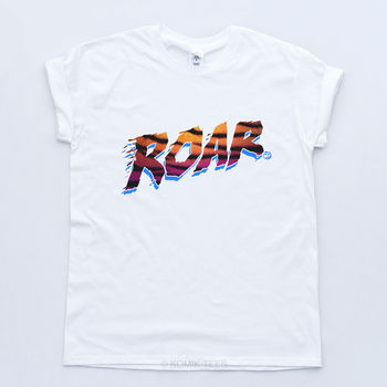Katy Perry Roar Leopard Print Music Tee Swag Prism Fresh T-shirt Cool Casual pride t shirt men Unisex New Fashion t shirt
