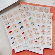 Decoration Sticker Junk Journal Korean Envelope-Seal Diy Scrapbooking Candy Cartoon Toy