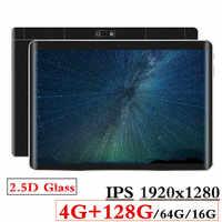 2.5D szkło 4G + 128G/64G/16G 10.1 cal 3G/4G LTE Tablet pc Android8.0 Octa Core Tablet PC 1920*1280 zdolność rozdzielczą 8MP 5000mAh
