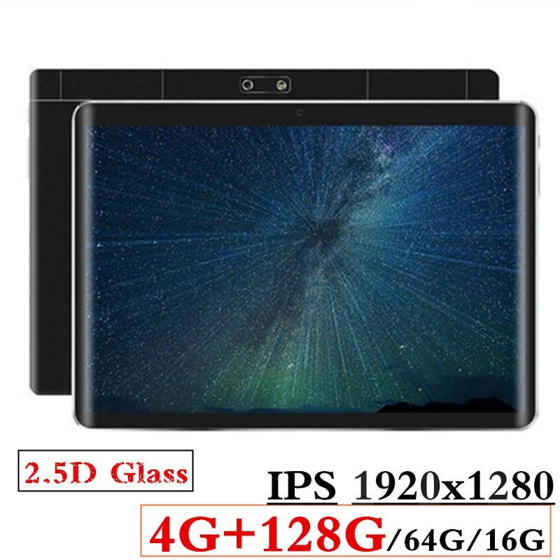 2.5D verre 4G + 128G/64G/16G 10.1 pouces 3G/4G LTE tablette pc Android8.0 Octa Core PC tablettes 1920*1280 résolution puissance 8MP 5000mAh