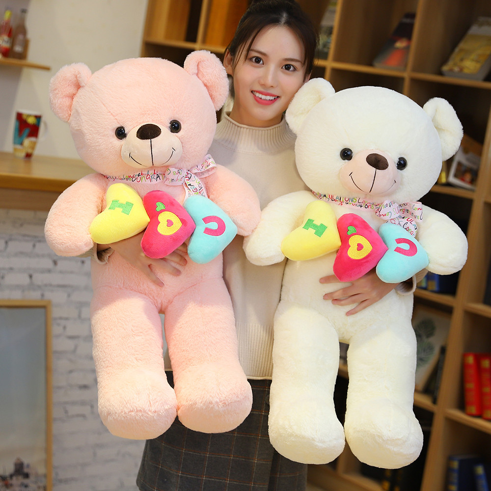 Giant Teddy Bear Plush Toys For Girls Ultra-Soft Big Unstuffed Bear Skin Cute Doll Birthday Valentines Day Gift For Kid Just6F