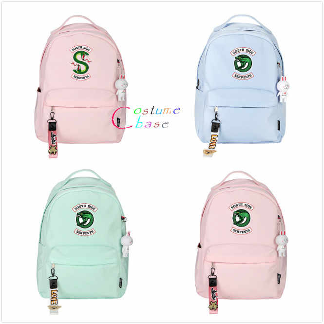 Riverdale Snake Logo Backpack Student School Shoulder Bag Teenager Unsex Travel Rucksack Laptop Cosplay