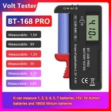BT-168 pro testador de capacidade da bateria digital para 18650 14500 lithum 9v 3.7v 1.5v células c d baterias tester m05 20 dropship