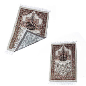 Image 5 - 1 Pcs הרמדאן קוראן אסלאמי מוסלמי תפילת שטיח שטיח מחצלת פוליאסטר Namaz סאלאט ציצית מפת שולחן כיסוי יוגה מחצלת 70x110cm