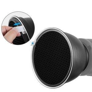 """Image 5 - Selens 7 """"18 см стандартная тарелка отражателя 20 40 60 градусов сотовая сетка мягкий диффузор Лампа Тень для стробоскосветильник Bowens"""