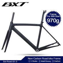 Full Carbon Ultralight Road Bike Frame Di2 Carbon Racing City Bicycle Frameset BSA V Brake Bicycle Frames 130*9mm Rear spacing