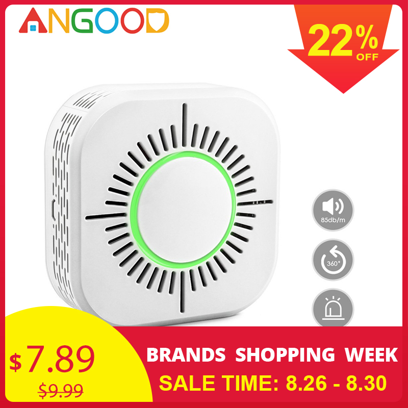 ANGOOD Gas-Detector Gateway Smart-Sensor Fire-Alarm Smoke Wireless Home-Security 433mhz