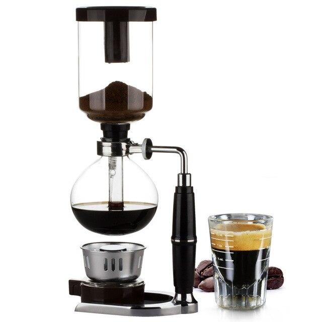 和風サイフォンコーヒーメーカーサイフォンポット真空コーヒーメーカーガラスタイプのコーヒーマシンフィルター 3cup 5 カップ