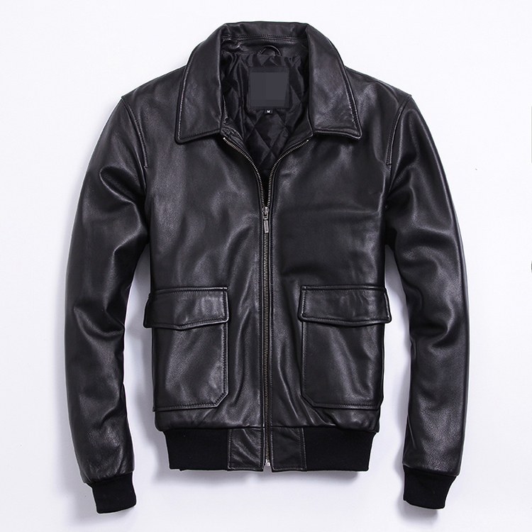 Free Shipping.Brand Classic Genuine Leather Coat For Man,men's Cowhide A2 Jacket.plus Size Flight Bomber Jackets.sales