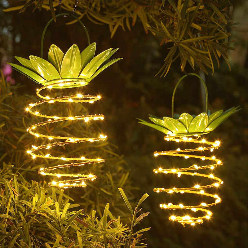 Led Solar Light Outdoor Waterdichte Art Home Ananas Vorm Opknoping Lichten Tuin Decoratie Nacht Lamp Yard Path Gazon Licht