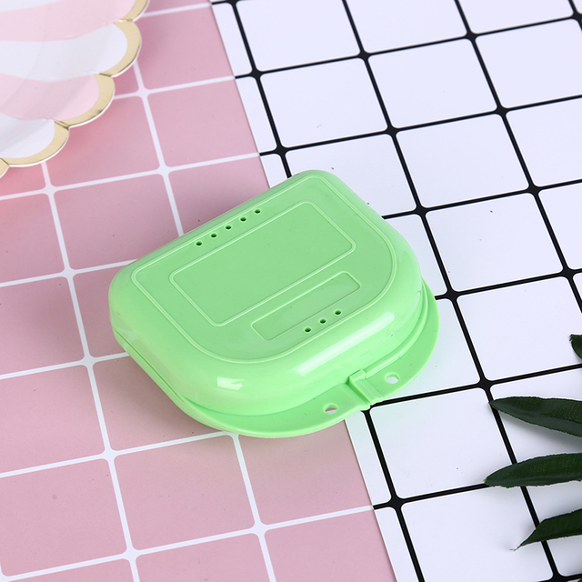 New Denture Bath Storage Box Case Dental False Teeth Appliance Container Storage Boxes Dentures Cleaner Levert Wholesale