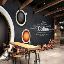 Mural 3D personalizado Europeo Americano bar Café tienda papel tapiz sala de estar TV Fondo pared decoración del hogar pared tela pegatinas(China)