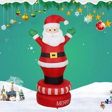 AsyPets 6FT Santa Claus Shape Inflatable Toy Christmas Decorative Prop for Courtyard