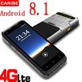 Новый Android 8 1 PDA Прочный ручной терминал сбора данных терминал беспроводной 1D 2D QR лазерный сканер штрих-кодов 4G