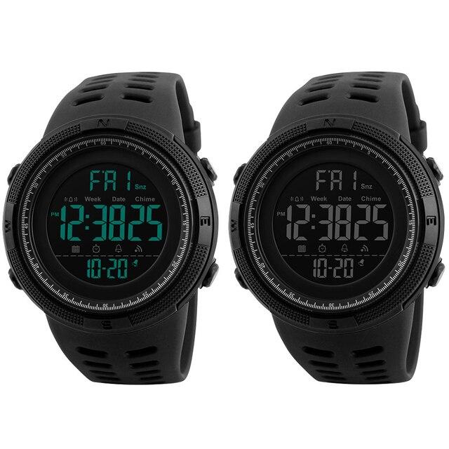 Couple Watches Men Fashion Outdoor Alarm Clock Digital Display Waterproof Calendar Sports Wrist Watch Silicone band relogio inte 2