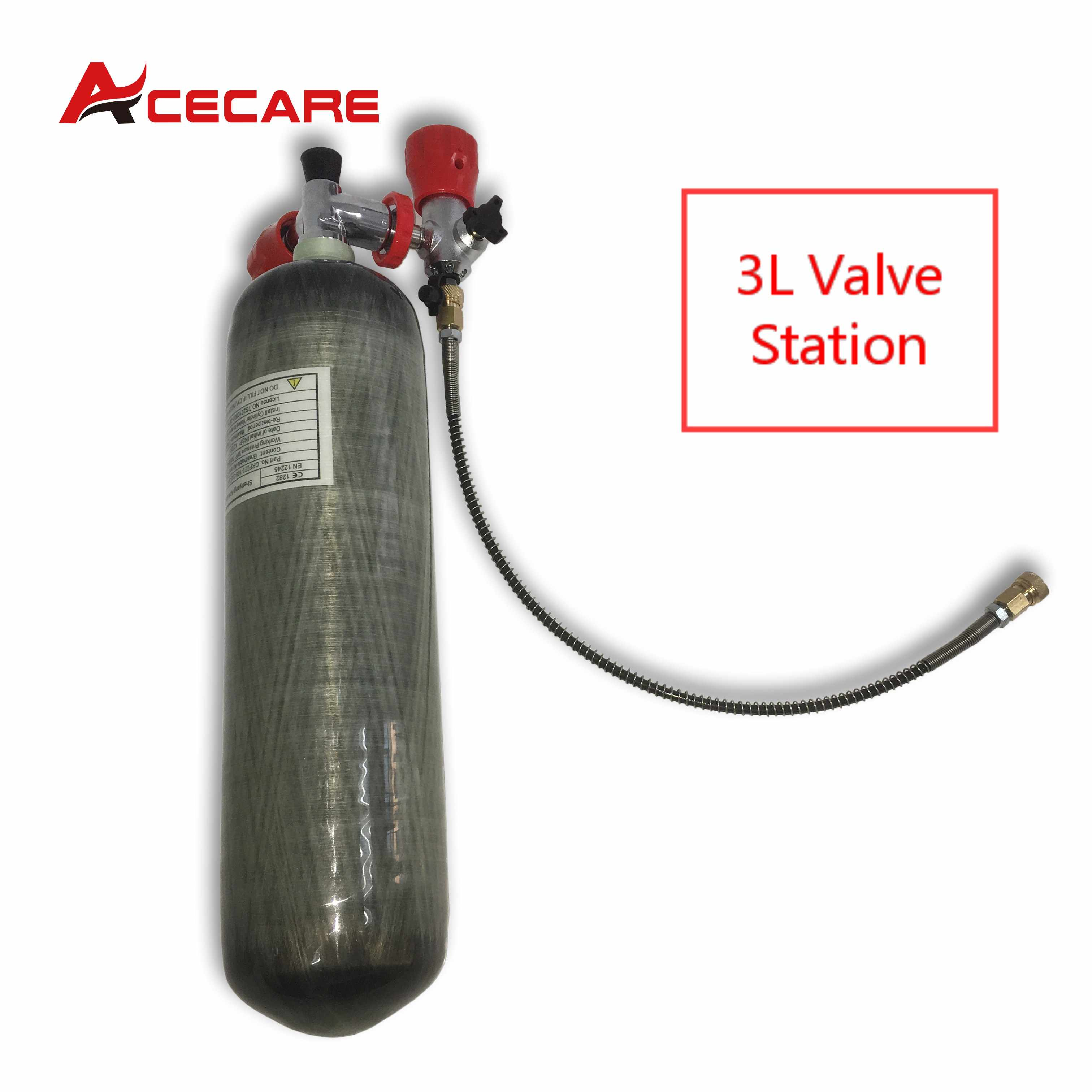 AC103101 الغوص 3L 4500Psi خزان من ألياف الكربون تحت الماء بندقية صمام أسطواني Pcp الألوان بندقية الهواء سلاح الجو كوندور