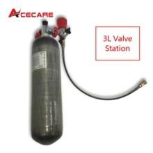 AC103101 Scuba Diving  3L 4500Psi Carbon Fiber Tank Underwater Gun Cylinder Valve Pcp Paintball Air Rifle Airforce Condor