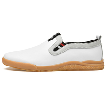 Men's and women's casual shoes fashion shoes leather casual shoe covers feet British flat shoes breathable perforated