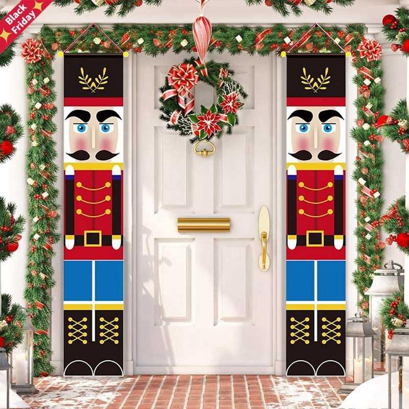 Qui trovate alcune proposte, dalle più classiche alle più innovative. Schiaccianoci Soldato Banner Decorazioni Natalizie Per La Casa Buon Natale Decorazioni Per Porte 2020 Ornamento Di Natale Felice Anno Nuovo 2021 Navidad Pendant Drop Ornaments Aliexpress