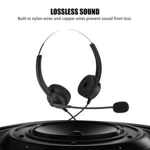 Image 1 - Call Center Headset Noise Cancelling Headphone With Crystal USB 3.5/2.5MM Plug For Customer Service/Game/PC Headphones Brand New