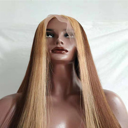 Ash Brown 13x6 Lace Front Human Hair Wigs Highlight Color Straight 370 Lace Frontal Wigs Pre Plucked Brazilian Remy Hair