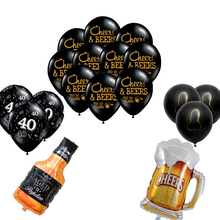 1set 10inch CHEERS BEERS To 21 30 40 50 Year Latex balloon Birthday party Celebration Bachelor  Party balloons supplies