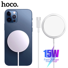 Hoco 15W Magnetic Wireless Charger สำหรับ iPhone 12 Pro Max 12 Mini Fast Charging Adapter Type C PD ปลั๊กสำหรับ iPhone 12 Quick Charge