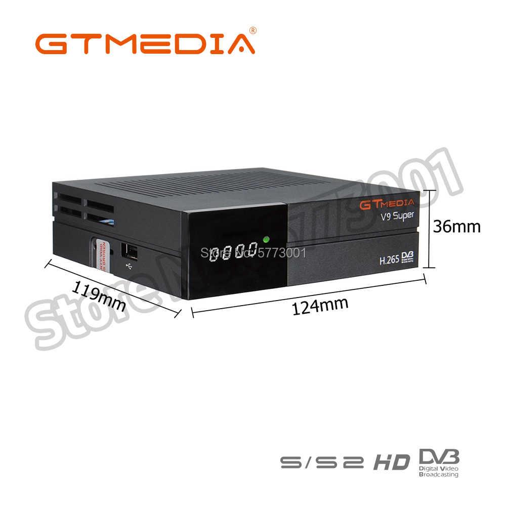 Best 1080P DVB-S2 GTmedia V9 Super H.265 decoder costruito in wifi Stesso come GTmedia V8 Nova Freesat V9 Super nessun app incluso