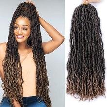 Crochet-Hair Braids Hair-Nu Curly Locs Dark-Brown Black Natural Mokogoddess 24-21strands/Pack