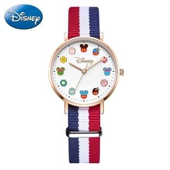 2020 Disney Princess Cartoon Girl Quartz Watch Lady Fashion Watch Women Waterproof Clock Woman Student Time Kids Gift Hour
