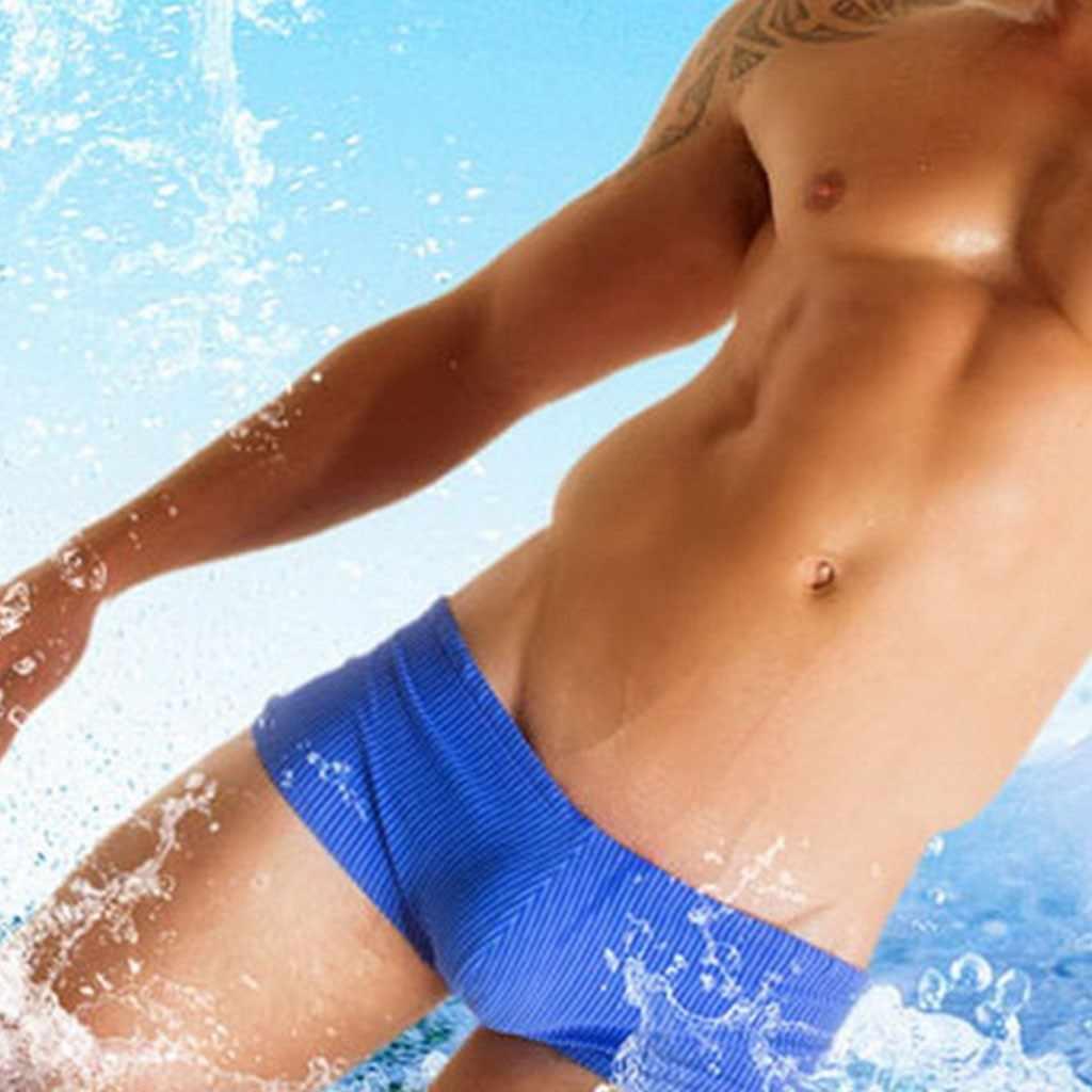 2020 مثير شورت سباحة رجالي ملابس السباحة الرجال بيكيني رجل منخفضة الخصر سراويل للسباحة للرجال ملابس السباحة الرجال ماركة ملخصات # YL10