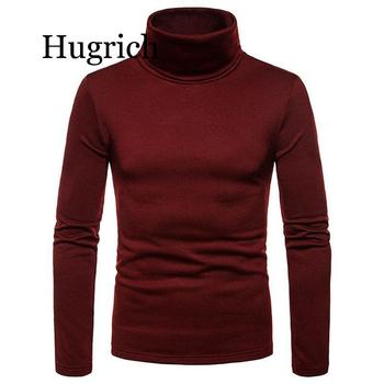 2020 Summer Spring Men Turtleneck Pullover Sweater Casual Slim Fit Knitted Basic Sweater Double Collar Men Turtleneck Sweater turtleneck husky turtleneck