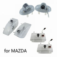 2 pçs led luz da porta do carro laser logotipo projetor decorar acessórios da lâmpada para mazda atenza 6 8 mazda6 rx8 CX-9 cx9 ruiyi mazda8 mpv