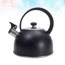 Whistle Teakettle Black Water-Pot Boiling Metal for 1PC Moon-Handle Heating Stylish