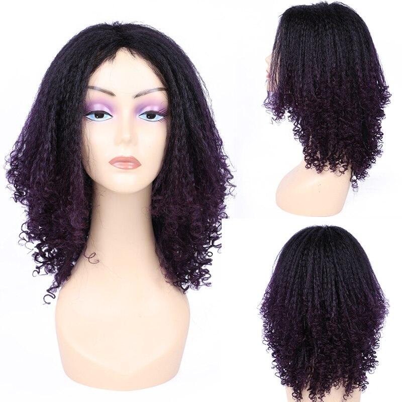 12 Polegada ombre sintético jerry encaracolado peruca