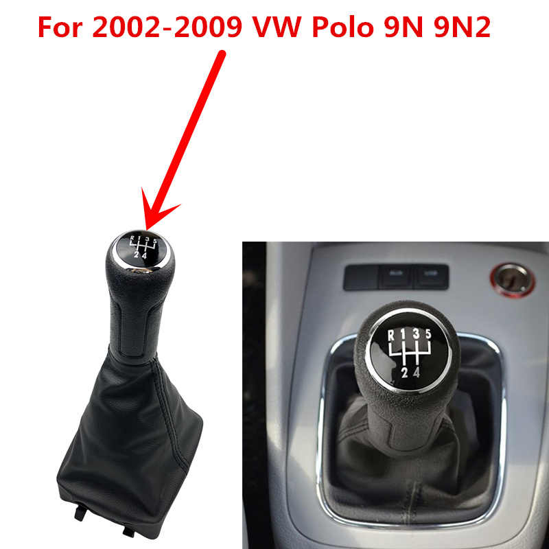 5/6 Speed Pookknop Lever Shifter Embleem Badge Cap Top Cover Voor Volkswagen Vw Polo 9N 9N2 Gti 2002-2009 2010 Auto Styling