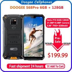 IP68 Impermeabile DOOGEE S68 Pro Telefono Cellulare Robusto Carica Senza Fili NFC 6300mAh Carica di 12V2A 5.9 pollici FHD + Helio P70 octa Core 6GB 128GB