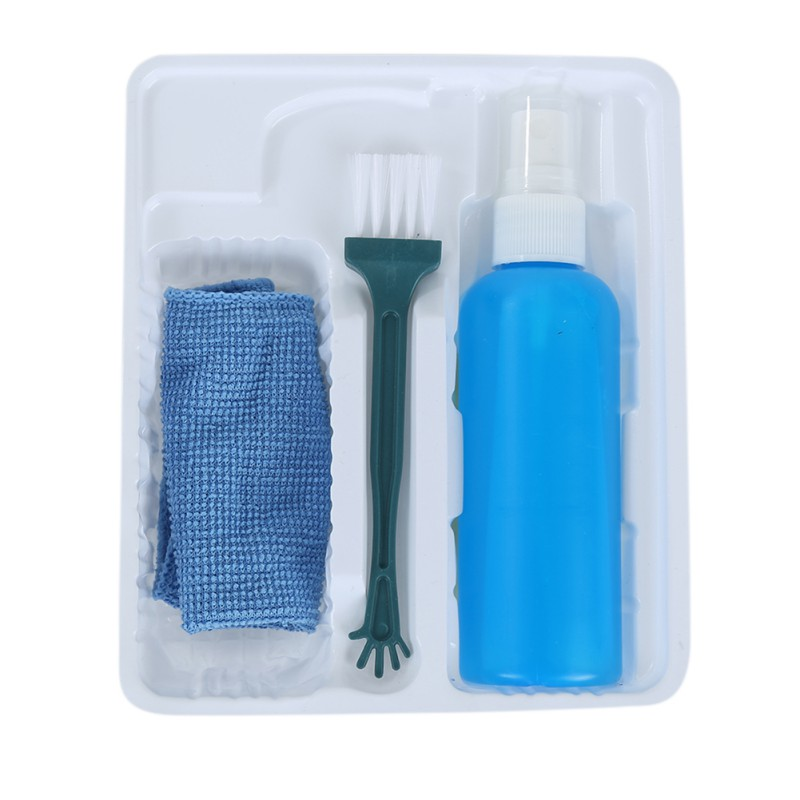 Multipurpose 3 In 1Magical Laptop Computer LCD Led Monitor TV Cleaner Plasma Screen Cleaning Kit Cleaning Cloth Brush Kits Rated