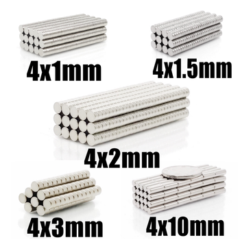 100~500Pcs N35 Round Magnet 4x1 4x1.5 4x2 4x3 4x10 Neodymium Magnet Permanent NdFeB Super Strong Powerful Magnets 4*1 4*2 4*3