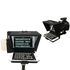 Image 3 - Portable Mini Teleprompter for Phone DSLR Recording Live Broadcast Mobile Teleprompter Artifact Video With Remote Control VS T1