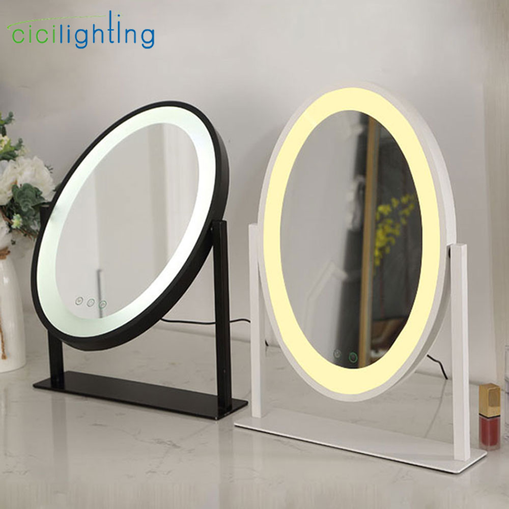 1pcs Mirror included Vanity Tabletops Light  Makeup Mirror Lights Touch Screen Stage Beauty Cosmetic led lamp  studio lighting Vanity Lights     - title=