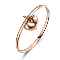 Classic Heart 18K AU750 True Real Solid Gold Rose Tail Stackable Rings Bands for Women Female Girl Fancy Trendy Office Jewelry