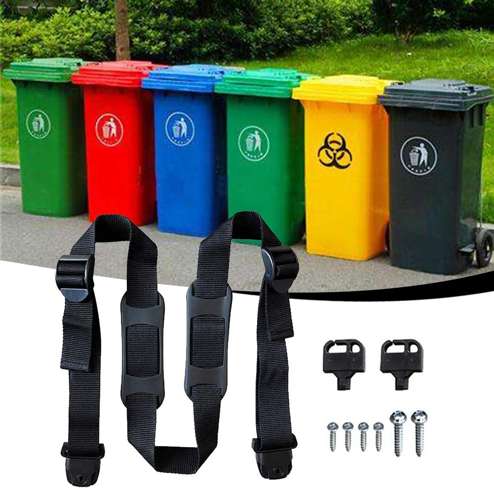 Bin Strap Garbage Lock Rope Trash Can Lid Strap Garbage Can Security Fixing Rope For Preventing Messy Tent Accessories Outdoor Tools Aliexpress