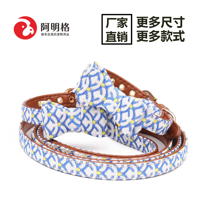 Jin Jie Te New Style Origional And Wind Pet Bow Neck Ring Cat Traction Dogs And Cats Universal