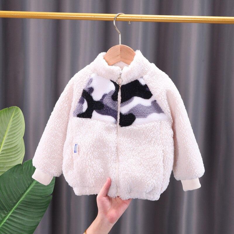 Jaqueta de inverno infantil, casaco de algodão