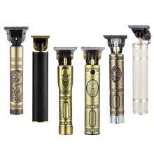 USB Aufladbare Keramik Haar Clipper Barber Haar Schneiden Maschine Bart Trimmer Rand Beschreibt Haarschnitt Männer Haar Styler Werkzeug