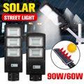 60 Вт 90 Вт светодиодный IP67 Солнечный уличный светильник радар с датчиком движения PIR уличный светильник ing настенные лампы на солнечной батар...