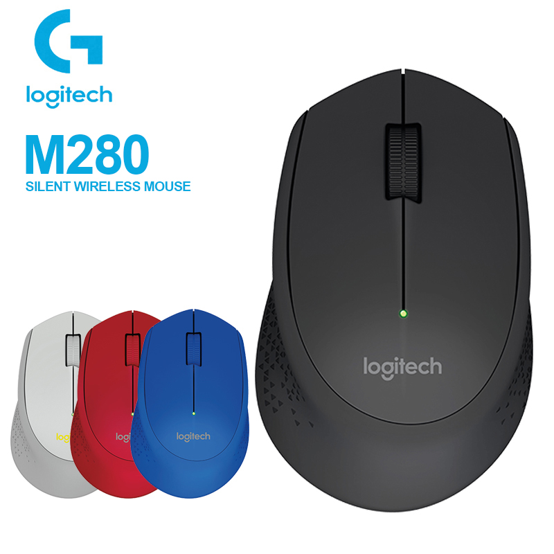 Logitech Mouse-Support Nano-Receiver Reddot Award Wireless 1000dpi Office-Test USB M280 title=